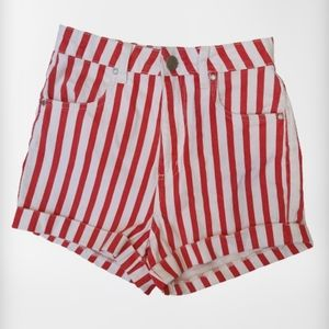 Cotton On 91 Red White Stripped Shorts